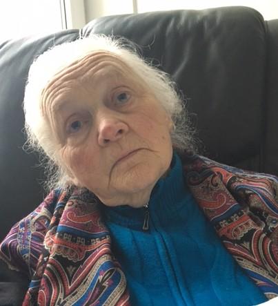 Jadvyga Ruginienė 2016 m. vasario 9 d., Šekai.  Nuotrauka  Benedikto Jurčio.