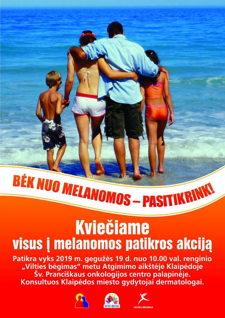 Melanomos akcija plakatas