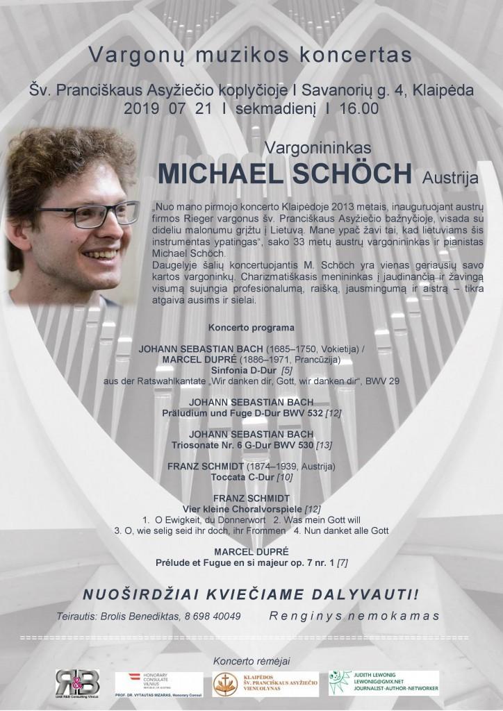 Vargonu muzikos koncertas__ Michael Schöch