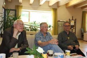Aleksas Vilčinskas, Michael Peart, br. Benediktas Jurčys šv. Pranciškaus onkologijos centre
